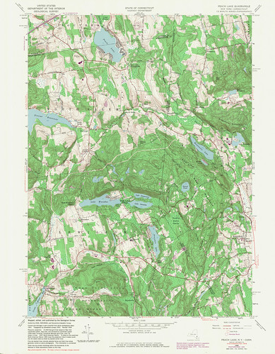 Peach Lake Quadrangle 1976 - USGS Topographic Map 1:24,000 | by uconnlibrariesmagic