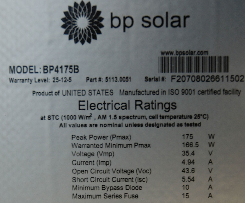 Bp Solar Pv Module Label These Bpsolar Quot Energylux