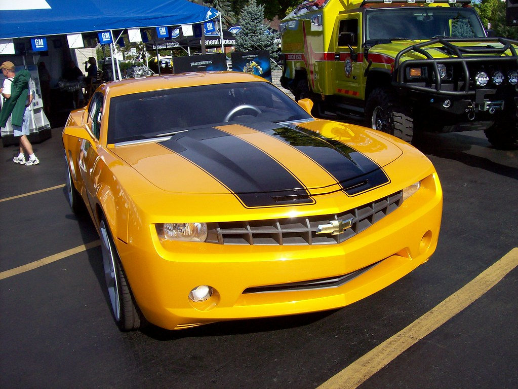 the bumblebee chevy camaro from the transformers movie. Black Bedroom Furniture Sets. Home Design Ideas