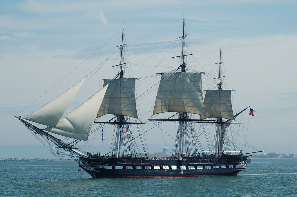 USS Constitution | Sails up. Oldest commissioned warship ...