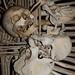 Bird Pecking Skull - All Human Bone