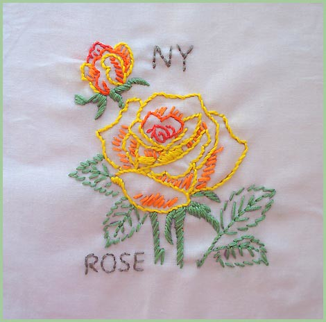 New York--State Flower | #12 In The State Flower Quilt Projeu2026 | Flickr