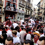Crowd in Pamplona