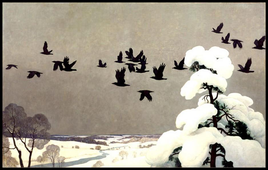 u0026 39 crows in winter u0026 39   1941  by n c  wyeth