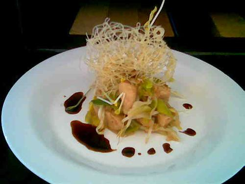 Fideos Arroz Pollo Pollo Mongoliano Con Fideos de