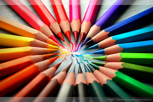 Crayon Colored Circle : Colored pencils iii circle of colors flickr photo