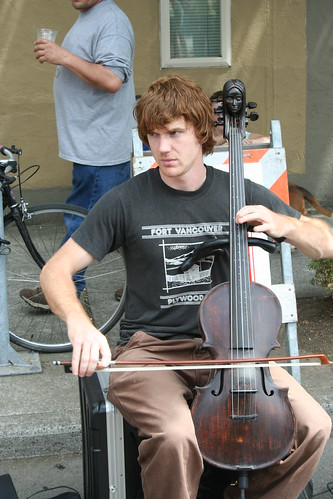 Crazy cool cello - Miss. Ave Street Fair | by firepile