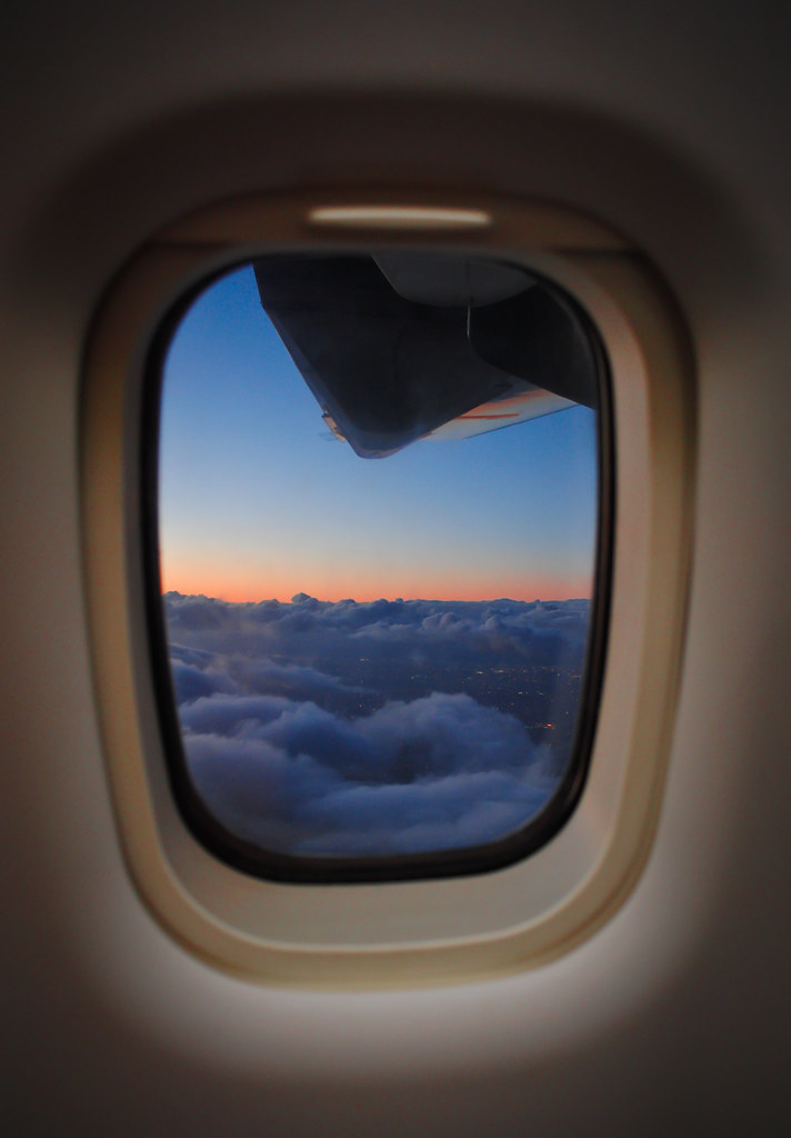 Airplane window | This photo was taken during sunset over ...