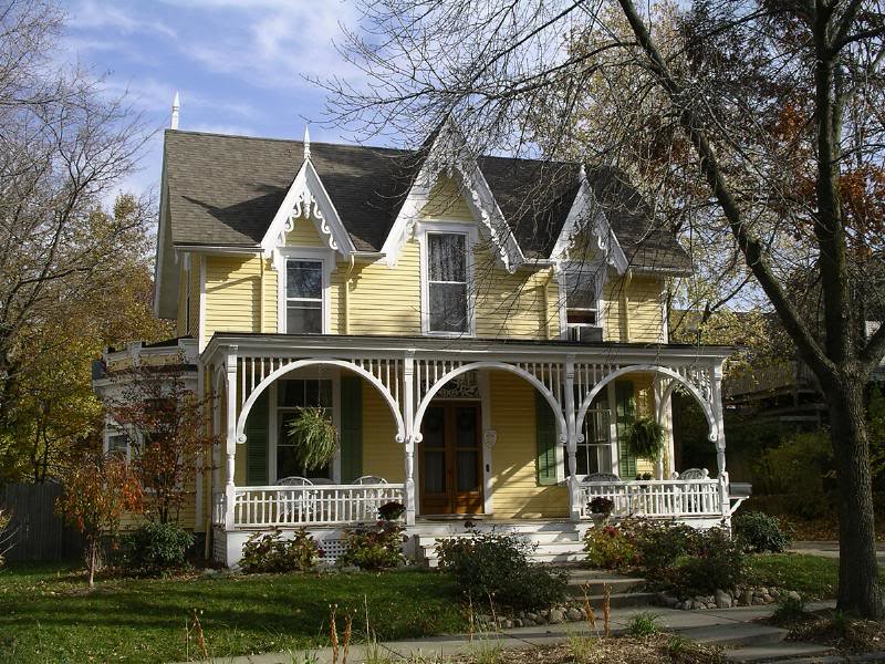 Carpenter gothic home grand rapids mi steamboat gothic for New victorian style homes