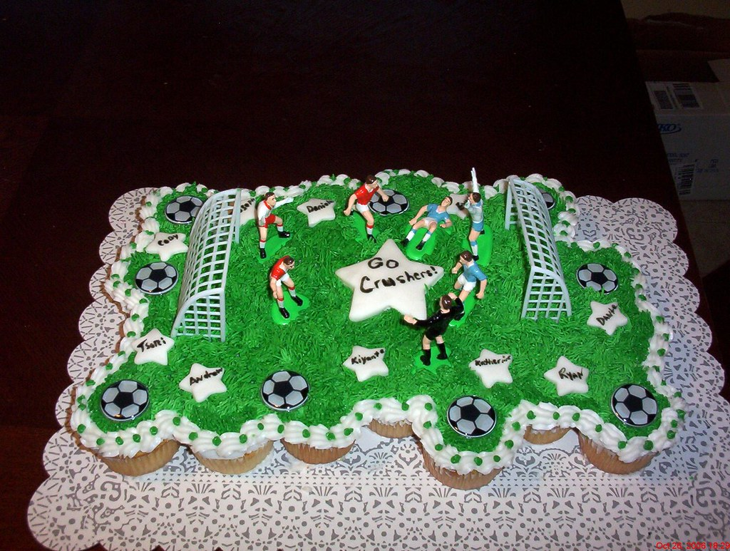 Soccer Themed Cakes And Cupcakes
