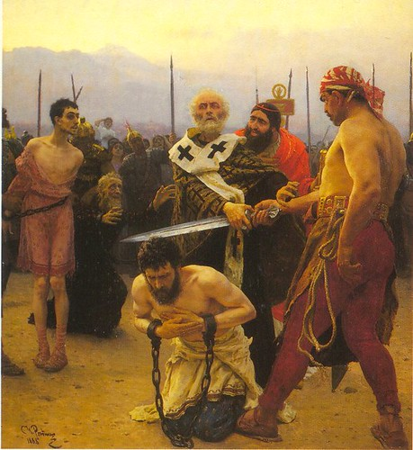 Ilya Repin: St Nicholas preventing an execution | by jimforest