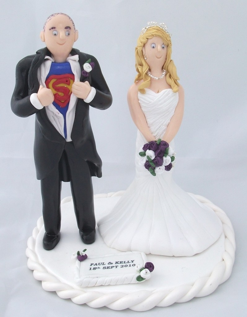 wedding cake toppers elegant superman and his wedding cake toppers handcrafted 8823