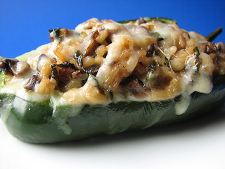 Portabello and Wild Rice Stuffed Poblano Peppers II | by britton618