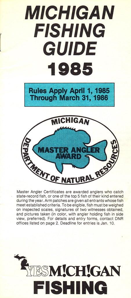 1985 michigan fishing license guide 1985 michigan for Fishing license mi