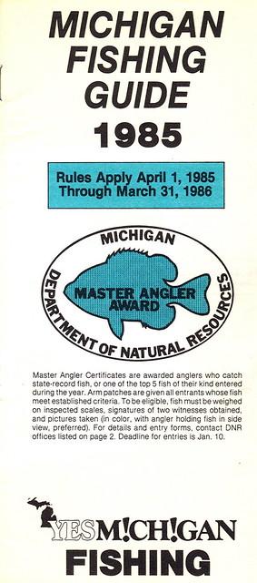 1985 michigan fishing license guide flickr photo sharing for Michigan fishing license online
