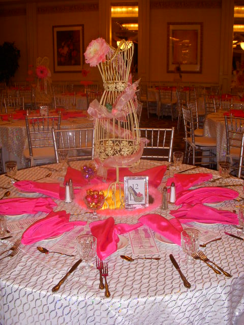 It S A Girly Thing Centerpiece For Bat Mitzvah Theme Party
