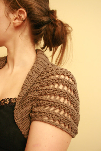 ribbed lace bolero | by kelly   m