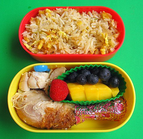 Chicken & fried rice lunch for preschooler | by Biggie*