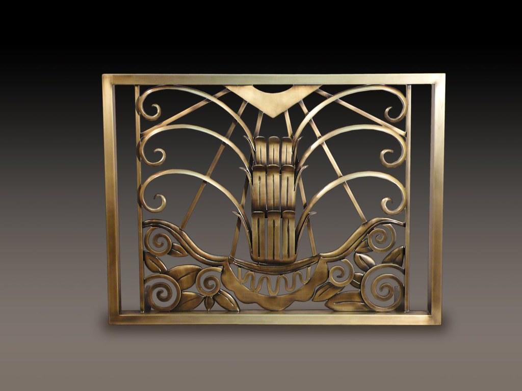 Art Deco Bordering On Art Nouveau Fireplace Screen Kr
