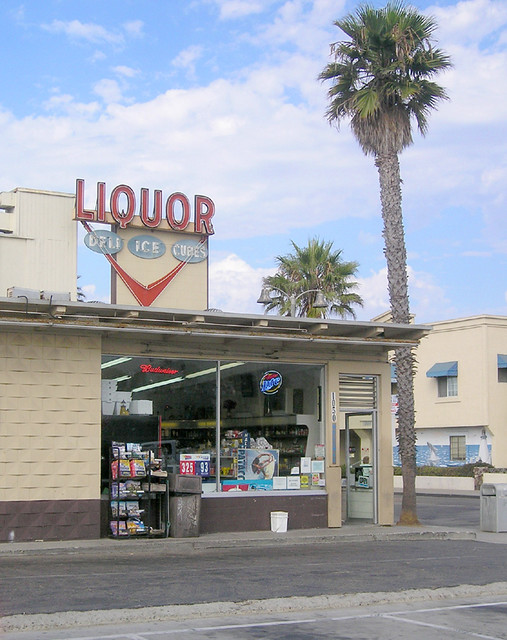 Surf Liquor Store Front Parking Lot Parking Lot View