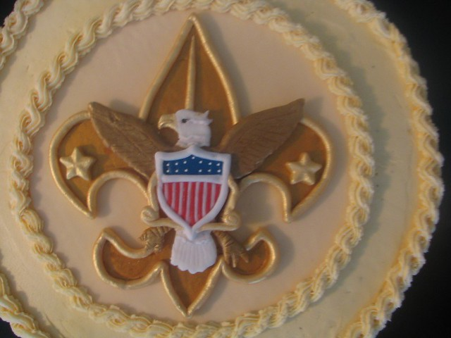 Scott s Eagle Scout cake Eagle Scout cake, my first time ...