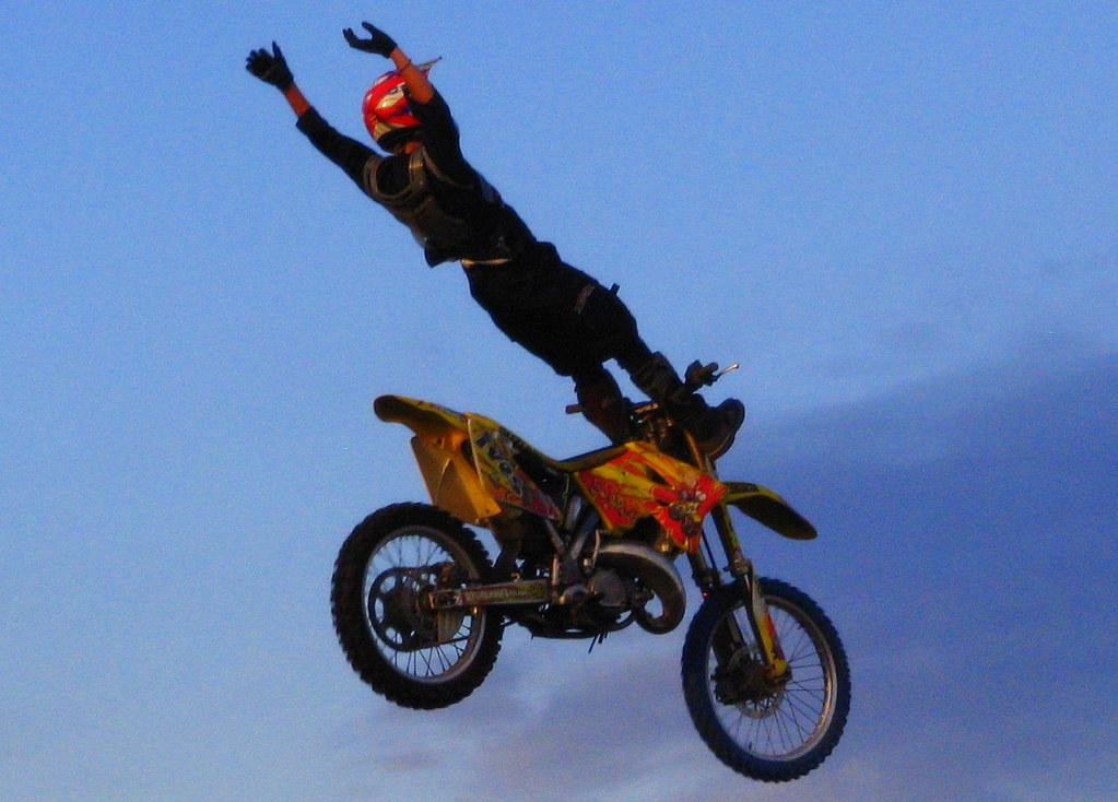 Flying Motorcycle Stuntman 6 2007 Tn State Fair And