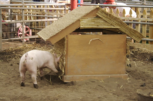 Pig with his house made of straw | by ewen and donabel
