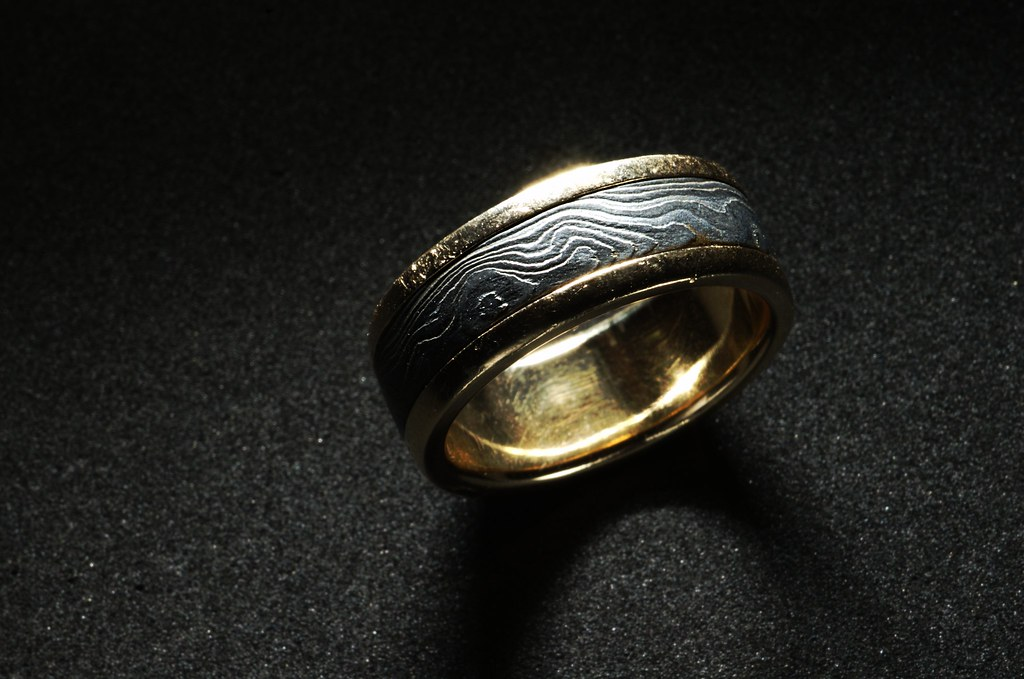 Demascus Steel Wedding Ring