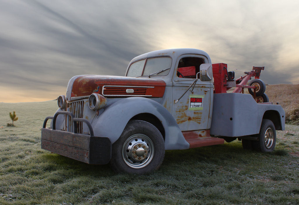 tim 39 s towing i noticed this old 1940 ford tow truck wit flickr. Black Bedroom Furniture Sets. Home Design Ideas