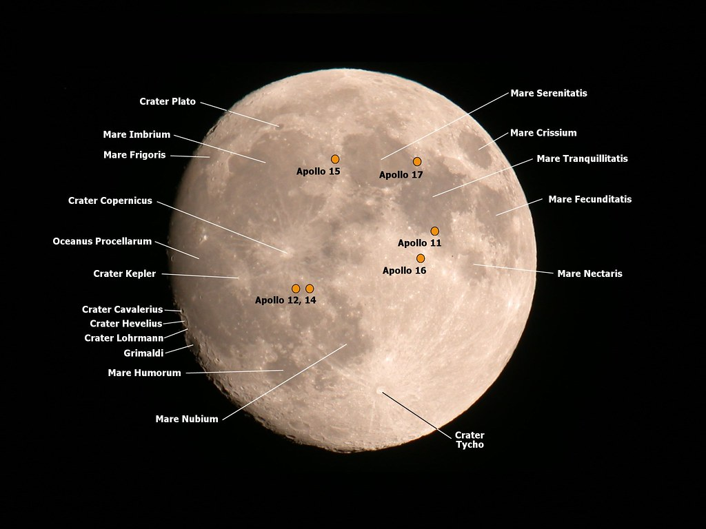 Moon With Selected Labels I Wanted To Learn Some Of The