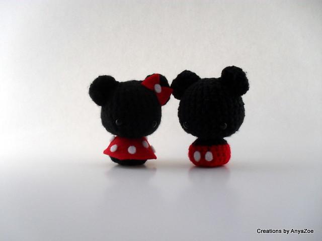 Crochet Pattern Owl Amigurumi : Mickey and Minnie Mouse amigurumi Flickr - Photo Sharing!