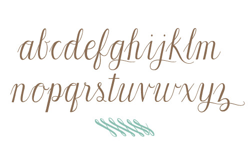 seekcursivealphabet typeface created for the design