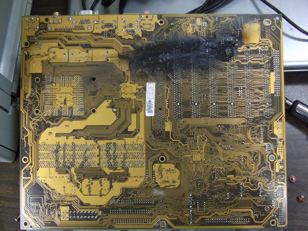 how to fix a fried motherboard