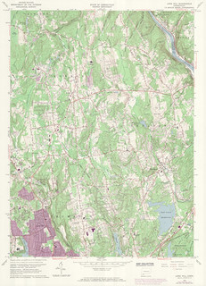 Long Hill Quadrangle 1973 - USGS Topographic Map 1:24,000 | by uconnlibrariesmagic