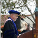 Ted Lucas speaking at Commencement