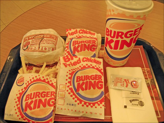 Burger King Coke Fried Chicken French Fries And Whopper With Cheese