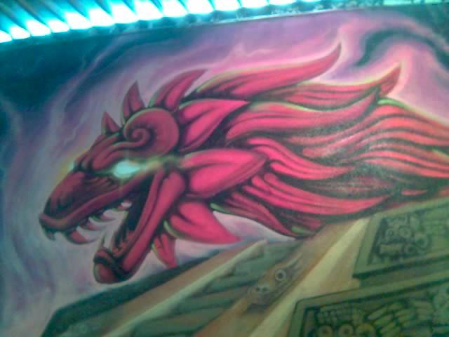 Quetzalcoatl un mural de la serpiente emplumada for Mural quetzalcoatl