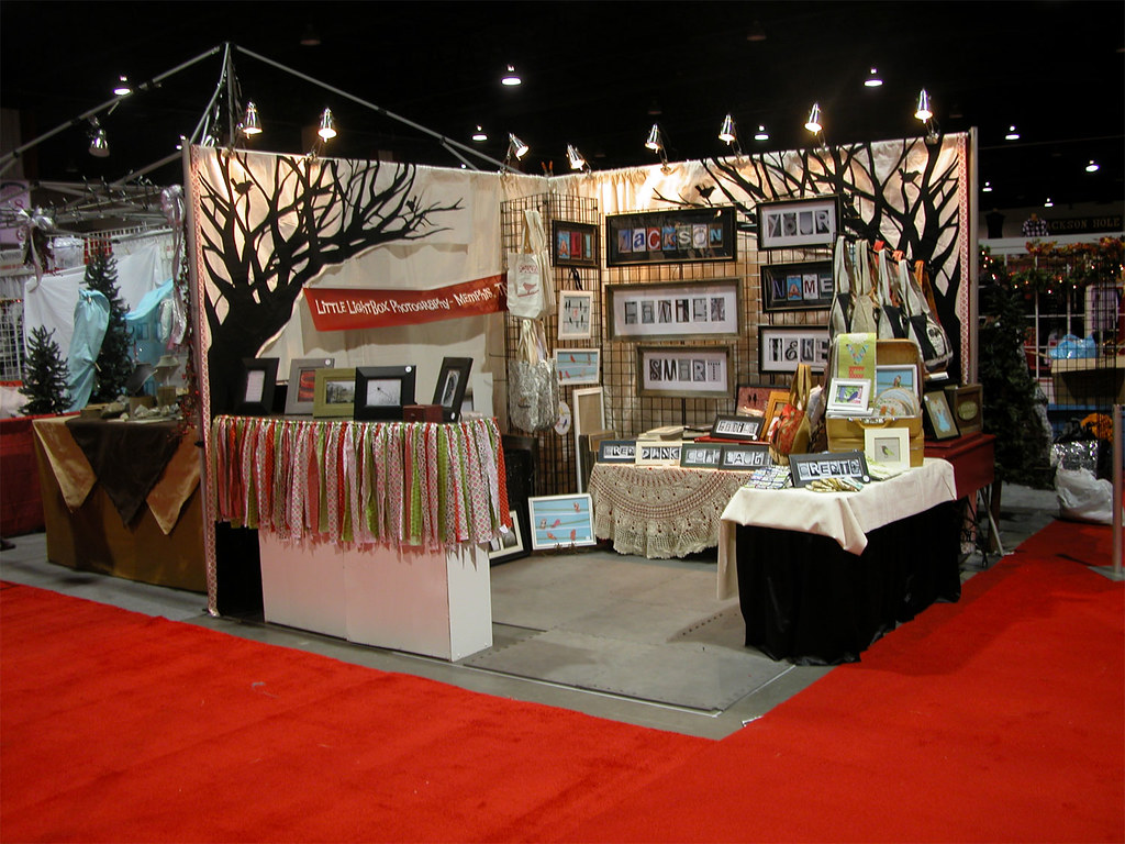 Salt lake city christmas gift show all set up and ready for Art craft shows