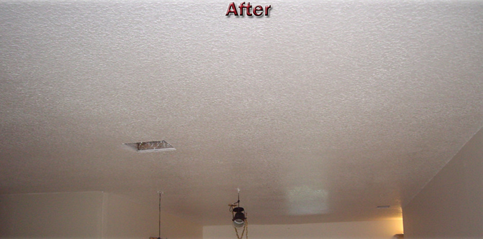 Knockdown Texture After Popcorn Removal Ceiling Repair