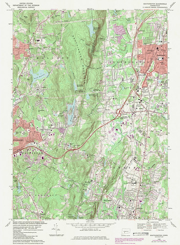 Southington Quadrangle 1984 - USGS Topographic Map 1:24,000 | by uconnlibrariesmagic