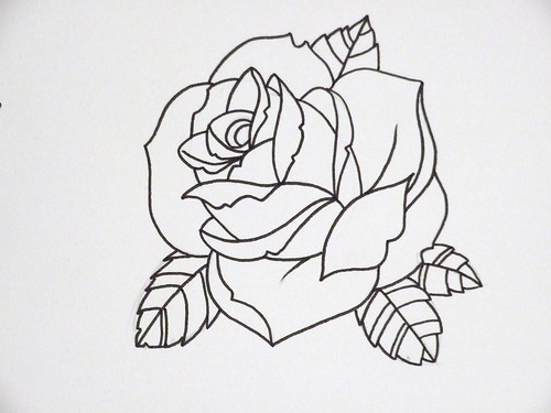 Rose Outline 3 Another Rose Joseph Potter Flickr