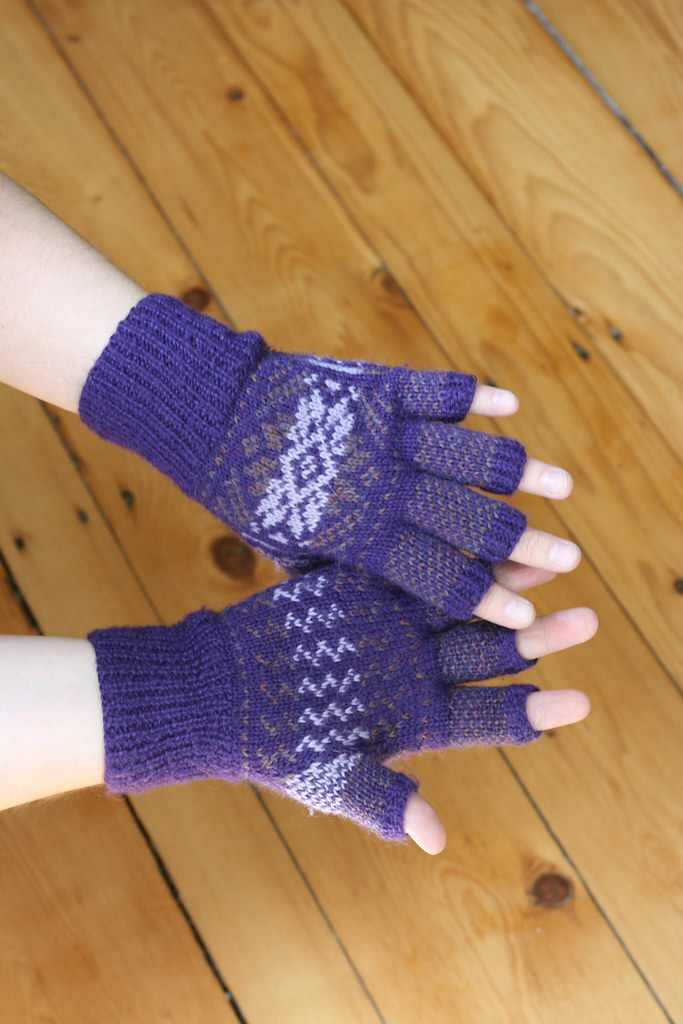 Hobo Gloves Knitting Pattern : Fair Isle Hobo Gloves Knit last fall. Perfect for knitting? Flickr