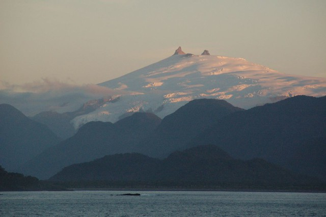 Volcan Melimoyu, Canal Moraleda, Chilean fjordland