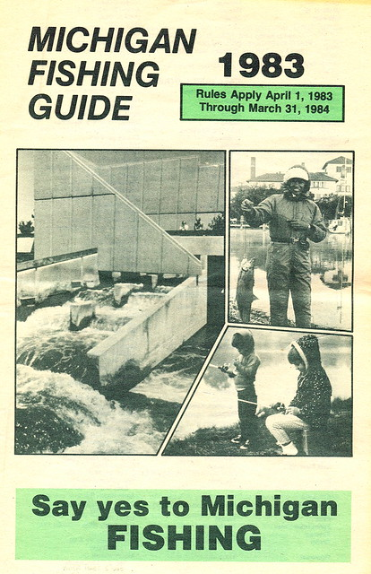 1983 michigan fishing license guide 1983 michigan for Michigan fishing license online