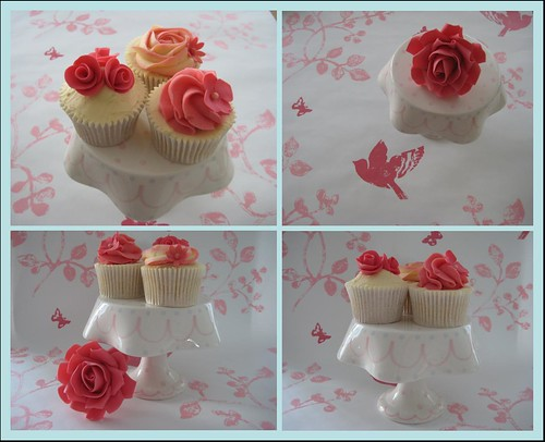 vintage wedding cupcakes | by Little miss fairy cake