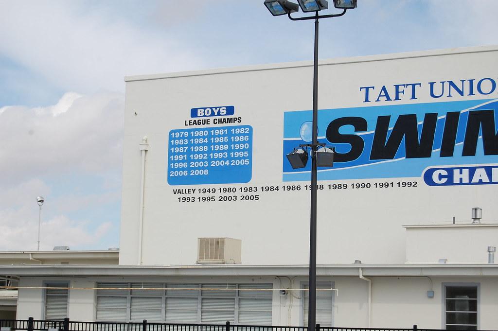 Taft High Swim Team | Our multi-million dollar swim pool ...