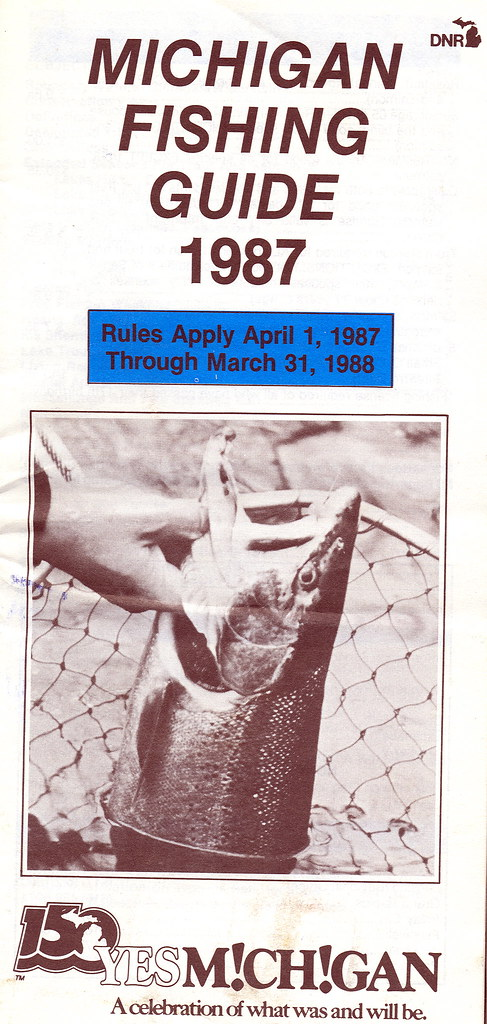 1987 michigan fishing license guide 1987 michigan for Fishing license mi
