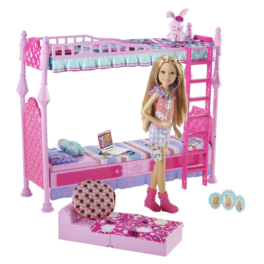 Barbie sisters sleeptime bedroom and stacie doll set flickr - Camera da letto di barbie ...