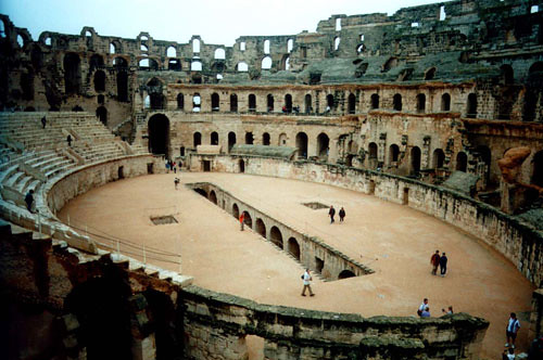 View Of Interior Of The Colosseum