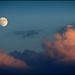 Moonrise, sunset